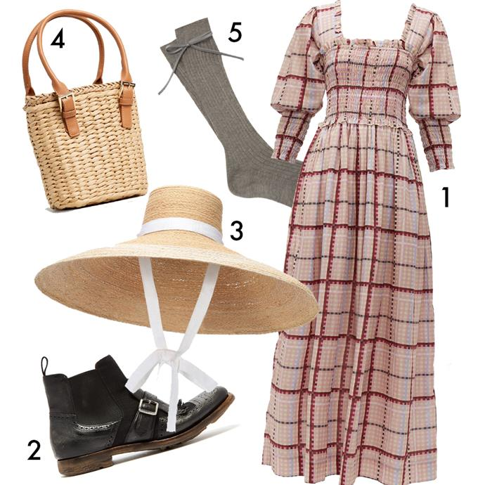 "1, Dress by Ganni, $460 at [MATCHESFASHION.COM](https://www.matchesfashion.com/au/products/Ganni-Checked-cotton-blend-dress-1301708|target=""_blank""
