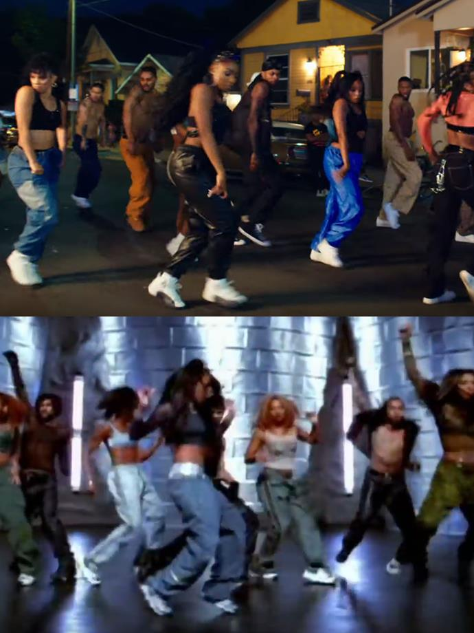 "**Normani channelling Aaliyah in ""Are You That Somebody""**<br><br>  In the final scene, Normani and her crew gather in the streets again. This time, Normani wears a black crop top with baggy pants and sneakers, a look trademarked by '90s R'n'B star Aaliyah. And like her look, the last dance sequence can be considered a nod to the late songstress' choreography in [""Are You That Somebody""](https://www.youtube.com/watch?v=Nr03OPoXNrw