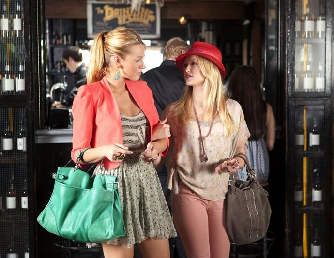 **Serena van der Woodsen from** ***Gossip Girl***<br><br>  **Lesson:** Corporate-meets-casual<br><br>