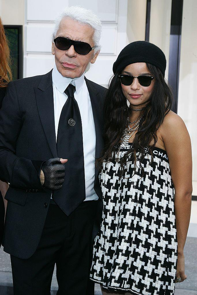 "With [Karl Lagerfeld](https://www.harpersbazaar.com.au/fashion/karl-lagerfeld-show-sets-18137|target=""_blank"") in 2008."