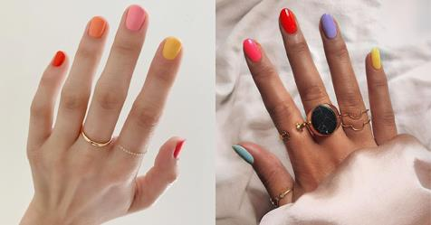 The Skittle Manicure: Instagram's Latest Nail Art Obsession | ELLE Australia