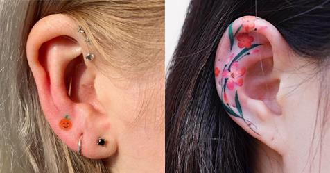Ear Tattoo Ideas: 15 Designs For 2020 | ELLE Australia