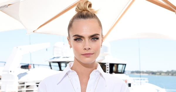 Cara Delevingne's Makeup Matches Dress At Carnival Row Premiere | ELLE Australia