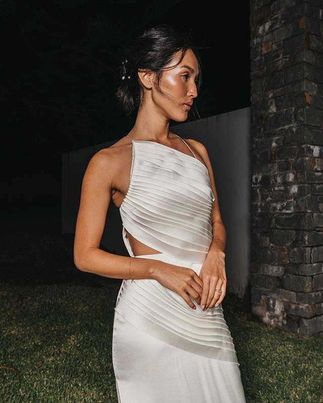 "**Nicole Warne** <br><br> Warne walked down the aisle in a bespoke Valentino gown, but the Australian fashion influencer wore a silky gown by homegrown designer Dion Lee for her wedding's after-party.  <br><br> *Image: Instagram [@nicolewarne](https://www.instagram.com/p/BhxY1efBXf5/|target=""_blank""