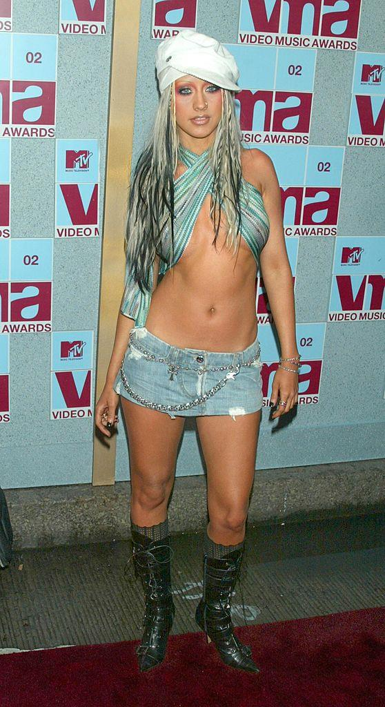 """**Christina Aguilera's """"Drrty""""-era outfit in 2002**<br><br>  Occurring at the height of Christina Aguilera's """"Drrty"""" era, this 2002 look will forever live on in our memories."""