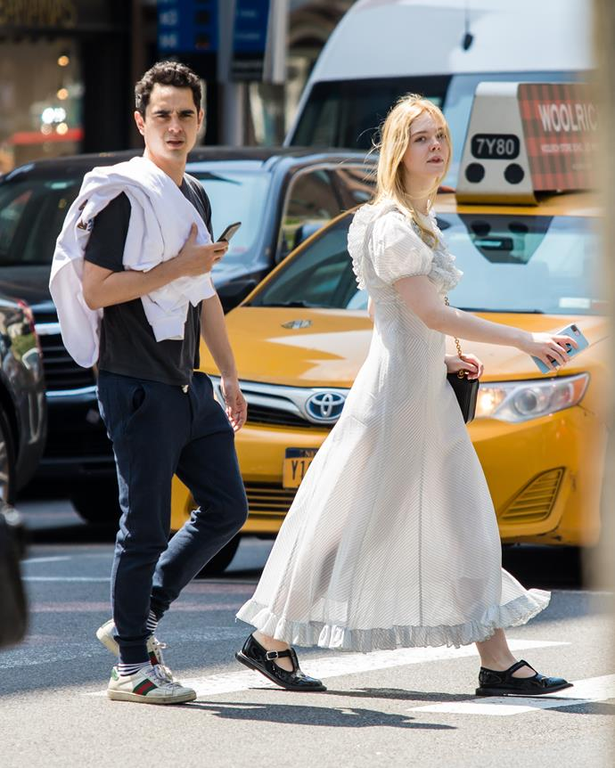 "**Elle Fanning and Max Minghella** <br><br> While Fanning and Minghella have never officially confirmed their relationship, their public appearance at the [2019 Met Gala](https://www.elle.com.au/celebrity/max-minghella-elle-fanning-18192|target=""_blank"") spoke volumes. The duo were first spotted together in July 2018, after meeting on the set of their upcoming film, *Teen Spirit*, and Fanning has referred to Minghella in interviews as ""a good friend"". Still, they've been spotted out and about [holding hands](http://www.justjared.com/2019/06/15/elle-fanning-holds-hands-with-boyfriend-max-minghella-while-shopping/