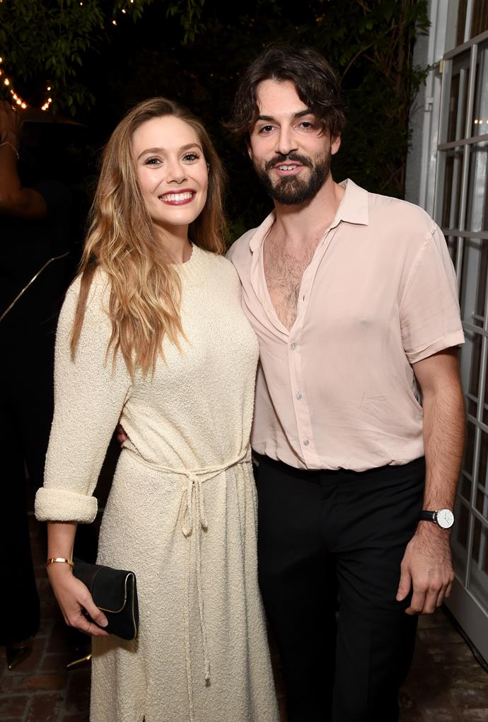 "**Elizabeth Olsen and Robbie Arnett** <br><br> When Olsen announced her [engagement](https://www.elle.com.au/celebrity/elizabeth-olsen-engaged-robbie-arnett-20945|target=""_blank"") to musician Robbie Arnett in July 2019, most of us were surprised to find out she was even dating someone. The actress and her musician fiancé, who is the frontman for indie band Milo Greene, have been together for three years, but she prefers to fly solo at red carpet events."
