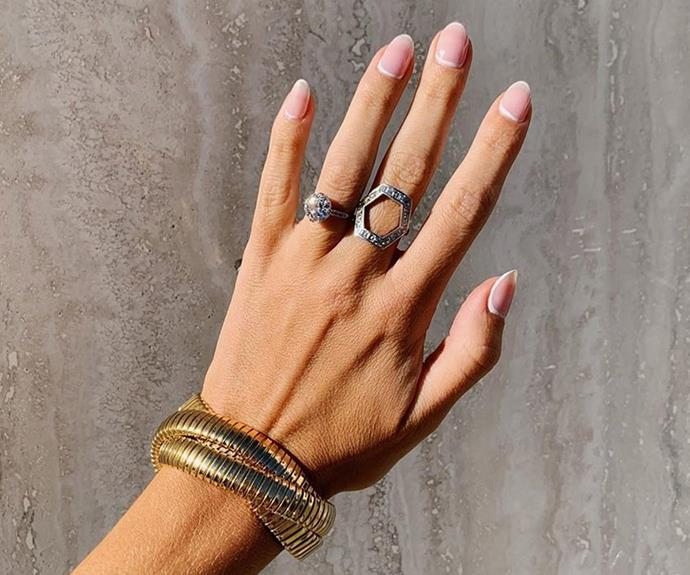 """**Aquarius:** ***The Reverse Frenchie***<br><br>  Independent, analytical and just a touch eccentric, Aquarius will love the practical-with-a-twist look that is ['The Reverse Frenchie'](https://www.elle.com.au/beauty/nail-trends-2019-19419