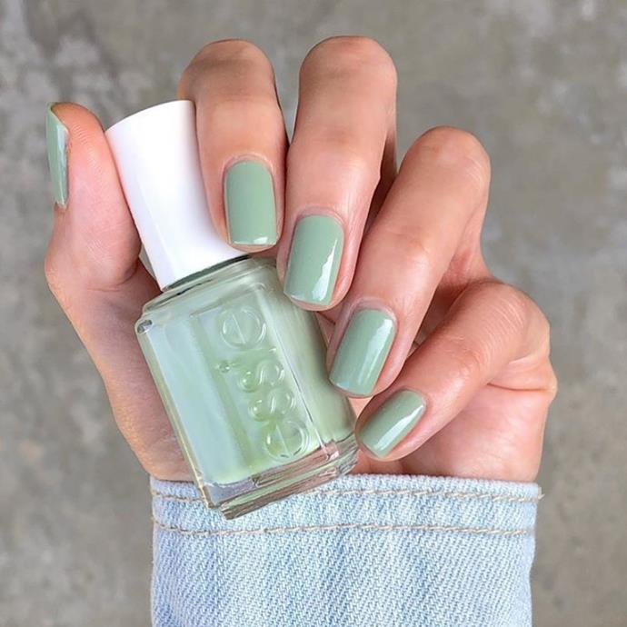 """**Cancer:** ***Pistachio***<br><br>  Cancerians are dreamers at heart and these pretty pistachio nails are as dreamy as they come.<br><br>   *Image via [@lovefreshpaint](https://www.instagram.com/lovefreshpaint/