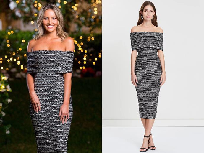 "Kristen wears the 'Lenora' dress by Eliya The Label, $299 at [The Iconic](https://www.theiconic.com.au/lenora-dress-740227.html|target=""_blank""