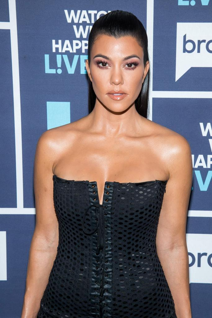 "**Kourtney Kardashian**<br><br>  In 2011, reality TV star and *POOSH* founder Kourtney Kardashian told *Showbiz Spy* that she wished she hadn't gotten breast implants at age 22.<br><br>  ""I had my boobs done but if I could go back, I wouldn't have done it. I was so cute before,"" she said (quote via [*People*](https://people.com/health/crystal-hefner-kourtney-kardashian-celebs-who-regret-getting-breast-implants/?slide=2345419#2345419
