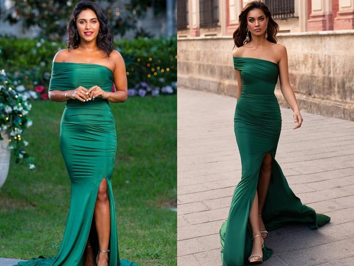 "Sogand wears the 'Estrella' gown by Alamour the Label in [episode ten](https://www.alamourthelabel.com/collections/all-products/products/estrella-emerald|target=""_blank""