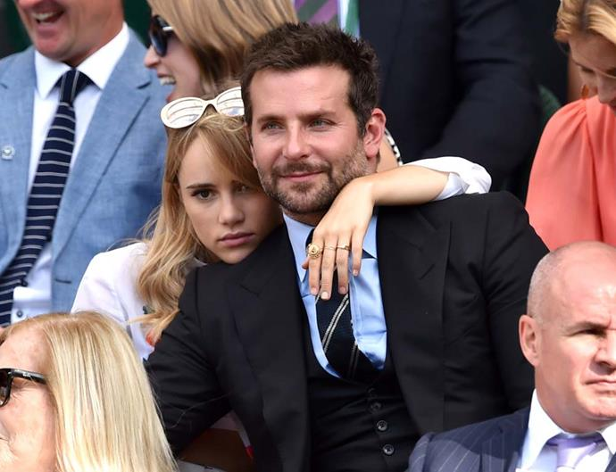 Suki Waterhouse and Bradley Cooper.