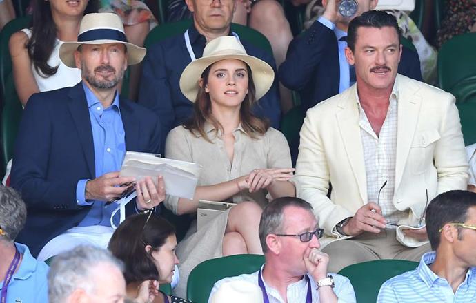John Vosler, Emma Watson and Luke Evans.