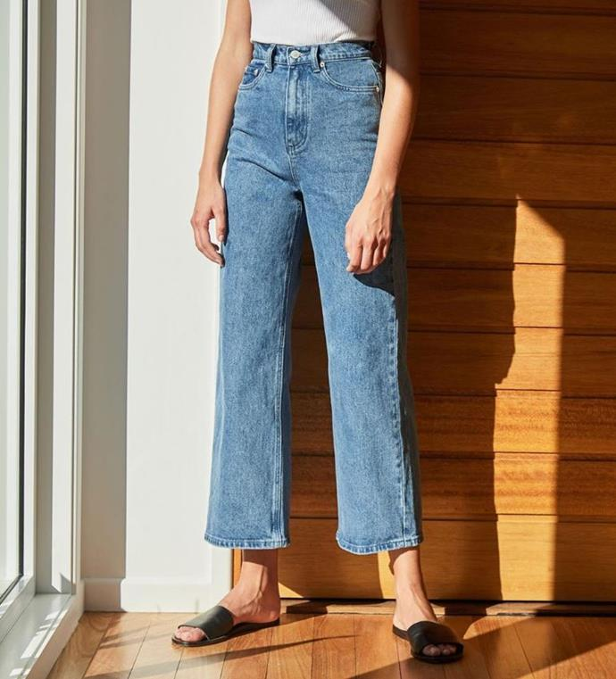 """**Assembly Label** <br><br> *Good for:* Slouchy, weekend-wear denim with flattering wide-legs and high waists. <br><br> Shop [here](https://assemblylabel.com/collections/womens-denim#/