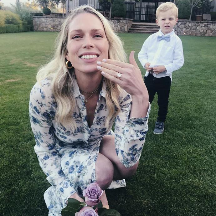 """**Erin Foster and Simon Tikhman**<br><br>  Sara Foster broke the news of her sister's engagement to entrepreneur Simon Tikhman via Instagram on August 21 with a photo of Erin wearing her ring.<br><br>   *Image via [@sarafoster](https://www.instagram.com/sarafoster/