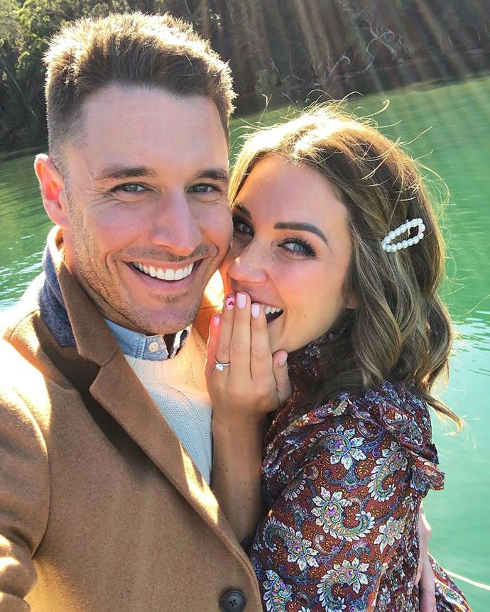 """**Georgia Love and Lee Elliott**<br><br>  Chalk up another [success story](https://www.elle.com.au/culture/australian-reality-tv-couples-20050