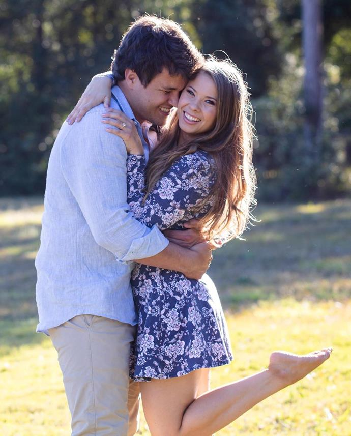 """**Bindi Irwin and Chandler Powell**<br><br>  National treasure Bindi Irwin got engaged on her 21st birthday after her now-fiancé Chandler Powell proposed at her favourite location in Australia Zoo. Irwin shared the happy news on Instagram, along with shots of her ring, writing: """"July 24th 2019. On my birthday I said 'yes' and 'forever' to the love of my life.""""<br><br>  *Image via [@bindisueirwin](https://www.instagram.com/p/B0S9RcUhwVq/