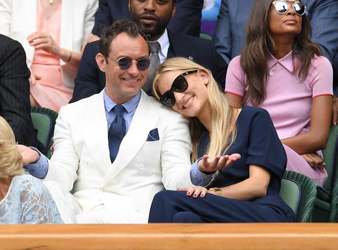 """**Jude Law and Phillipa Coan**<br><br>  Also fans of the short engagement? Jude Law and [Phillipa Coan](https://www.harpersbazaar.com.au/celebrity/who-is-phillipa-coan-18566
