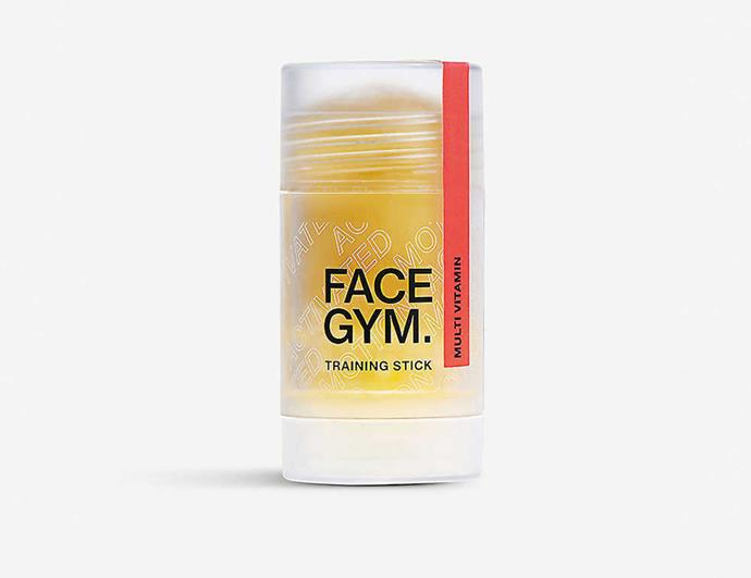 "**Motion-activated skincare** <br><br> Skincare for the gym? Activewear isn't the only gym-related investment you'll be making in the near future now that gym skincare is a thing. <br><br> FaceGym's next-gen innovation uses your workout grind to your complexion's advantage. As you begin to warm up, the first set of the formula's ingredients begin to prep the skin. The formula is then eventually broken down by sweat, releasing a second layer of hard-working encapsulated actives. Consider post-spin blemishes a thing of the past. <br><br> *FaceGym training stick, $61 at [Selfridges](https://www.selfridges.com/AU/en/cat/face-gym-multi-vitamin-training-stick_5049-10139-5060405442794/?cm_mmc=PLA-_-GoogleAU-_-BEAUTY-_-FACEGYM&POR=Y&gclid=CjwKCAjwnrjrBRAMEiwAXsCc4wGwmZjOWGqizrE0ira2erG4bO-cP6U2TcuEMYk3x9q_kS5OC28bGxoCEhEQAvD_BwE&gclsrc=aw.ds|target=""_blank""