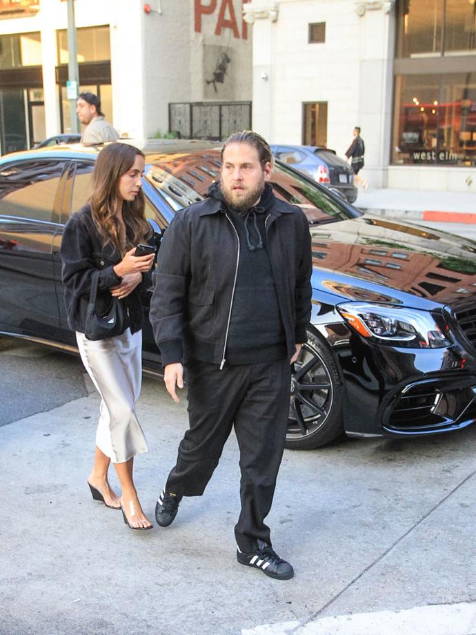 """**Jonah Hill and Gianna Santos**<br><br>  Actor Jonah Hill got engaged to his new fiancée Gianna Santos on September 4, 2019. The pair reportedly began dating last year. According to [*ET Canada*](https://etcanada.com/news/499990/jonah-hill-engaged-to-girlfriend-gianna-santos/