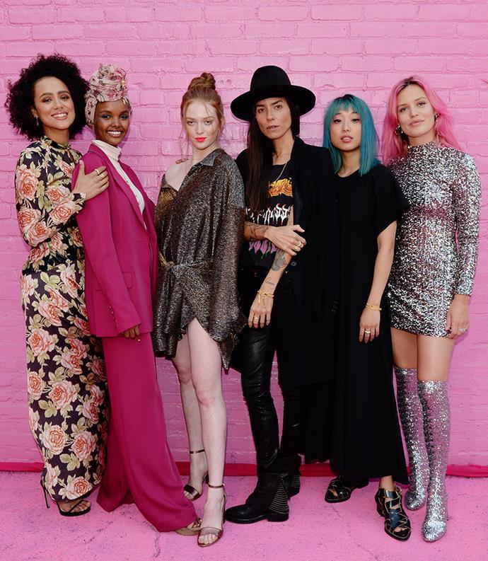 Nathalie Emmanuel, Halima Aden, Larsen Thompson, Tasya van Ree, Margaret Zhang, Georgia May Jagger