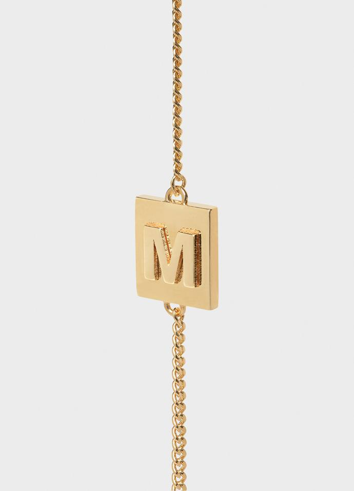 "***Alphabet jewellery***<br><br>  Céline's gold-finish alphabet jewellery pieces have become something of a cult favourite. Pick yours up and wear it, well... with everything.<br><br>  *Bracelet, approximately $587 at [Céline](https://www.celine.com/en-us/celine-shop-women/jewellery/jewellery/alphabet/|target=""_blank""
