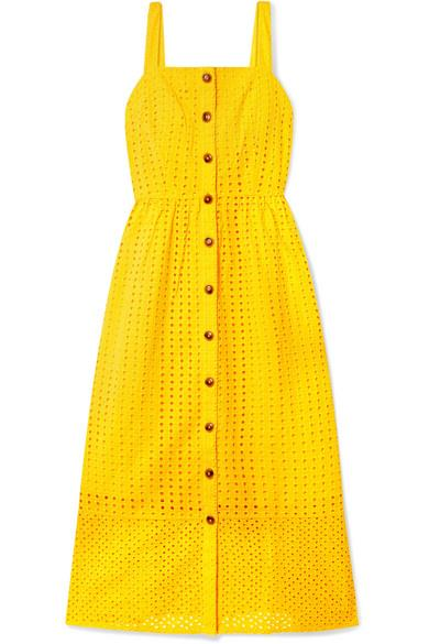 "***Mango yellow***<br><br>  Although you can infuse the colour in small doses, we recommend going big. Case in point: this J.Crew dress cotton-voile midi dress in the exact yellow shade—perfect for bright and breezy summer days. <br><br>  *Dress by J.Crew, $197.32 at [Net-a-Porter](https://www.net-a-porter.com/au/en/product/1140531/j_crew/coletta-broderie-anglaise-cotton-voile-midi-dress|target=""_blank""