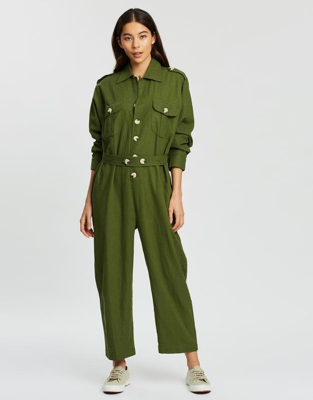"***Boiler suits***<br><br>  Green is always a winner, and this boiler suit by Bare Road is made of pure lightweight linen for maximum comfort during the season's hottest days.<br><br>  *Boiler suit by The Bare Road, $229.00 at [The Iconic](https://www.theiconic.com.au/bailey-jumpsuit-827000.html|target=""_blank""