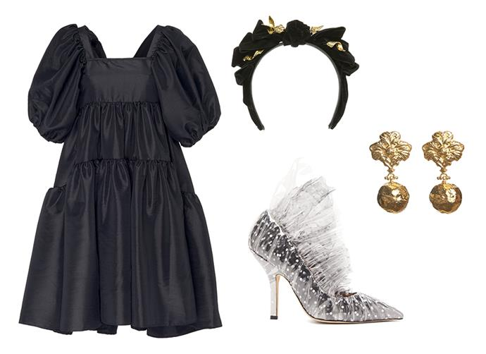 "Dress by Cecilie Bahnsen, $1, 025 at [Moda Operandi](https://www.modaoperandi.com/cecilie-bahnsen-pf19/ami-bow-embellished-taffeta-dress|target=""_blank""