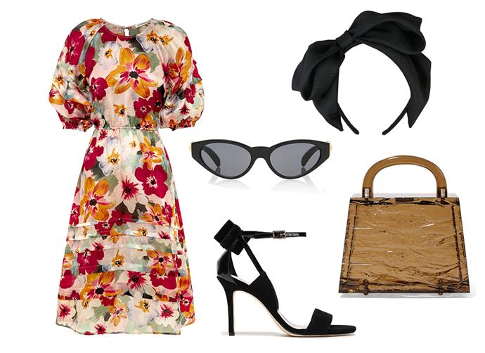 "Dress by [Hansen & Gretel](https://hansenandgretel.com/shop/clothing/dresses/toulouse-dress-monet-floral-organza/|target=""_blank""