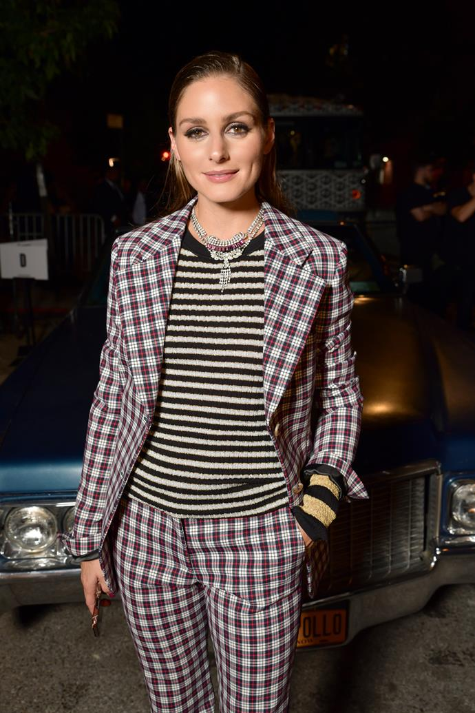 **There was an exceptional guest list**<br><br>  Fashion royalty Olivia Palermo also made an appearance in a gingham suit and a striped tee.