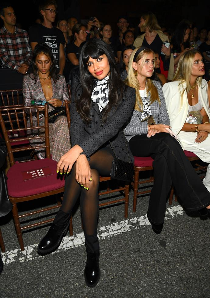 "**There was an exceptional guest list**<br><br>  Front row guest Jameela Jamil wore a stylish polka-dot blazer from the collection. After the runway, Jamil [tweeted](https://twitter.com/jameelajamil/status/1170877710169780228/photo/1|target=""_blank""