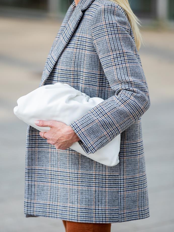 The Bottega Veneta pouch.