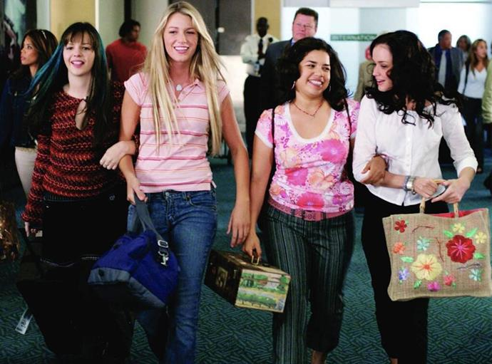 **The cast of *The Sisterhood of the Travelling Pants* (2005)** <br><br> Each of the four actresses in *The Sisterhood of the Travelling Pants* went on to have illustrious film careers of their own, but not before breaking some major style ground in the 2000s. <br><br> In the teen classic, Blake Lively, America Ferrera, Alexis Bledel, and Amber Tamblyn gave us all a masterclass in bold colours and over-the-top prints—not to mention, the undying power of denim. We're still thankful.