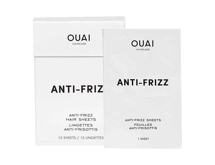 "OUAI Anti-Frizz Hair Sheets, $28 at [Sephora](https://www.sephora.com.au/products/ouai-anti-frizz-hair-sheets/v/default?q=sheets|target=""_blank""|rel=""nofollow"")"
