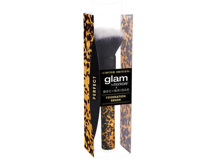 Glam by Manicare Bec + Bridge foundation brush, $24.95, available from October at Chemist Warehouse.