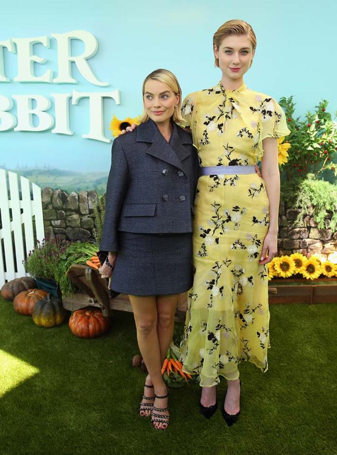"***Elizabeth Debicki***<br><br> Aussie actress Elizabeth Debicki is actually 6'3"". Here she is standing next to 5'6"" Margot Robbie."