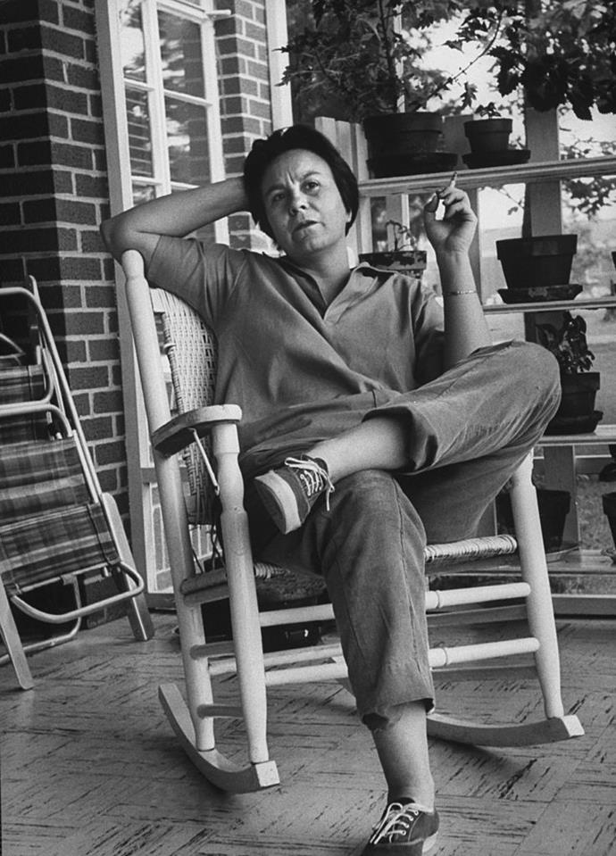 Harper Lee in her hometown, Alabama, in 1961.