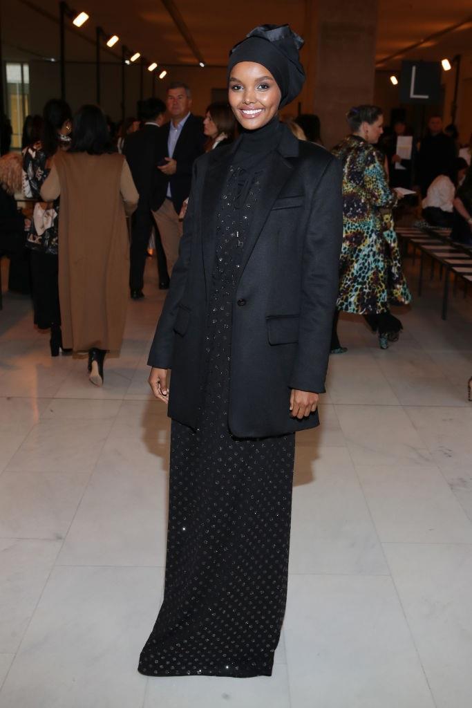 Halima Aden at Max Mara.