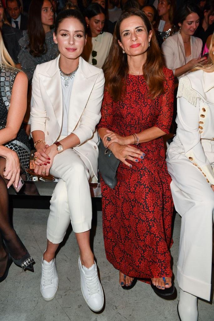Olivia Palermo and Livia Firth at Alberta Ferretti.