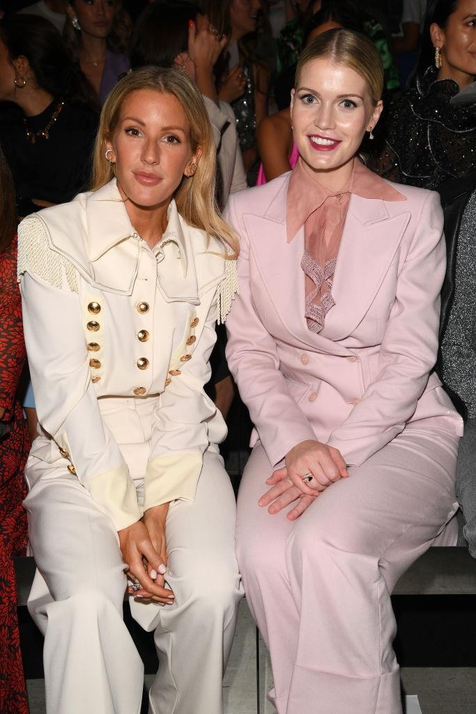 Ellie Goulding and Lady Kitty Spencer at Alberta Ferretti.