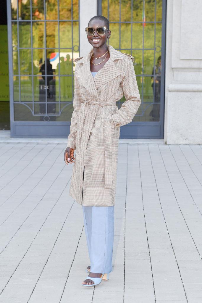Adut Akech at Versace.
