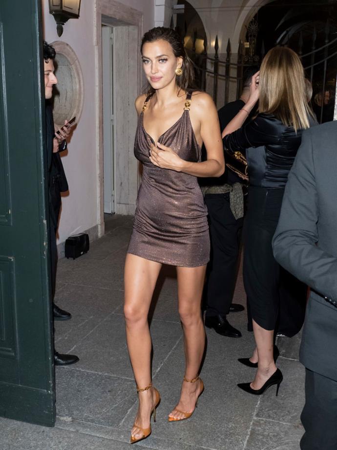 Irina Shayk at Versace.