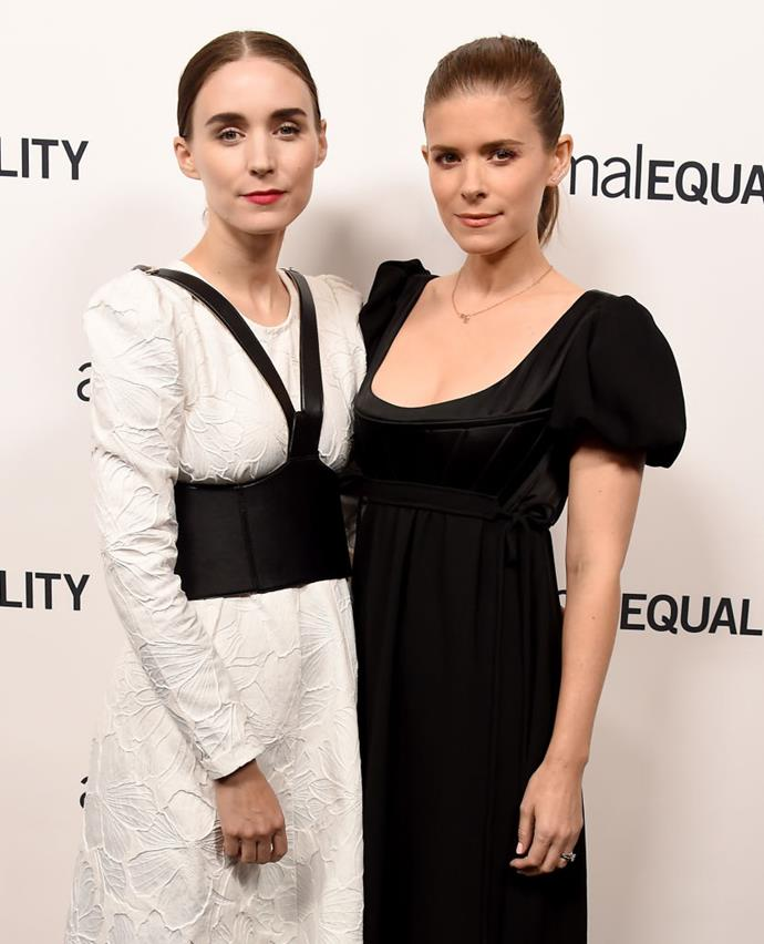 "**Rooney and Kate Mara**<br><br>  Sisters and actresses Rooney and Kate Mara are both vegans, with Rooney also opting for a gluten-free diet.<br><br>   ""[Well] I'm gluten-free. A bunch of people in my family have coeliac disease, so I stopped eating wheat about a year ago, and right away I noticed a difference. I'm also vegan; I basically eat only fruits and vegetables. I've never felt better than I do now,"" she told [*InStyle*](https://www.instyle.com/news/rooney-maras-7-beauty-must-haves
