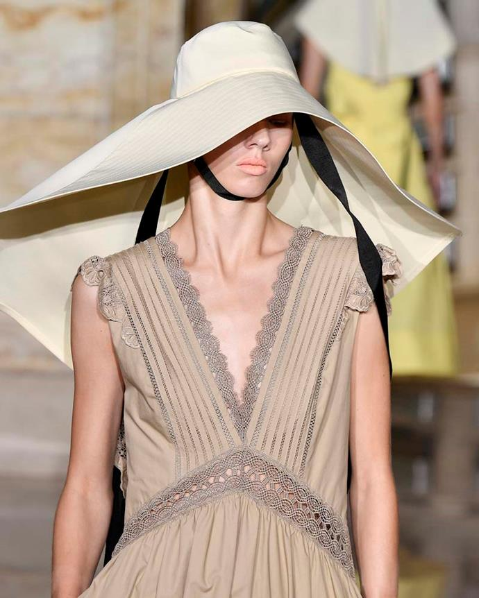 ***An oversized hat***<br><br> A boater or sunhat might not be your speed, but what about a super-sized one? OTT hats—like Jacquemus' iconic La Bomba and this one by Self-Portrait—are just extra enough to work.