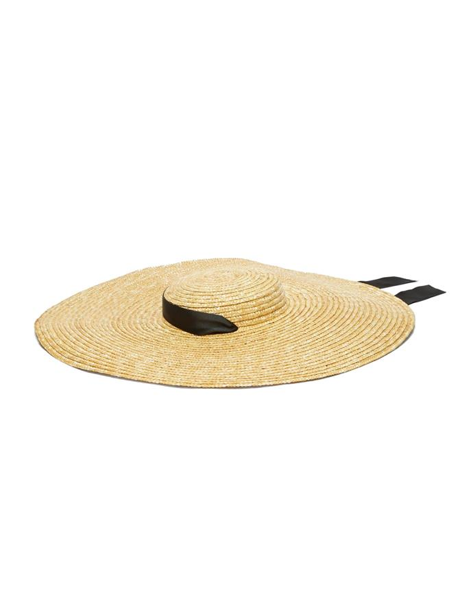 "***An OTT ribbon***<br><BR> Hat by Eliurpi, approx. $530 at [MATCHESFASHION.COM](https://www.matchesfashion.com/products/Eliurpi-Grosgrain-tie-wide-brim-straw-hat-1289209|target=""_blank""
