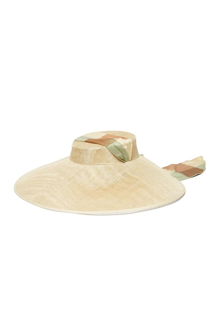 "***A boater worn behind your head***<br><br> Hat by Eliurpi, approx. $768 at [MATCHESFASHION.COM](https://www.matchesfashion.com/products/Eliurpi-Checked-bandana-tie-straw-hat-1289212|target=""_blank""