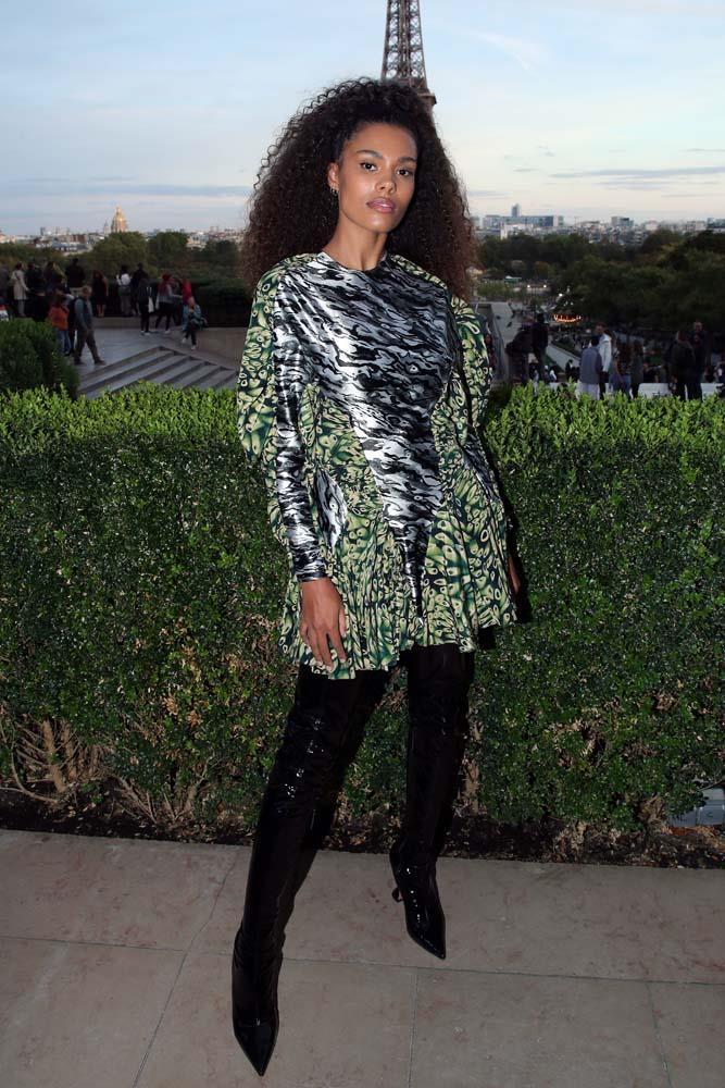 """Tina Kunakey at """"Le Defile L'Oreal Paris""""."""