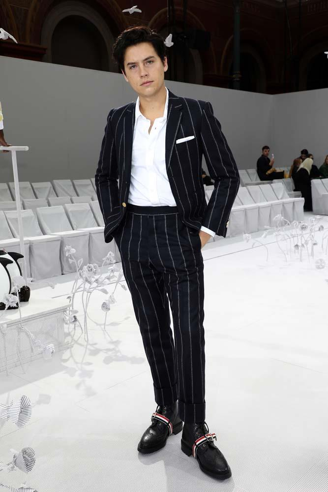 Cole Sprouse at Thom Browne.